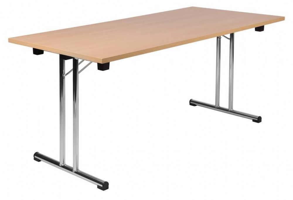 TEKNIK SPACE FOLDING EXECUTIVE Beech Effect Folding Table